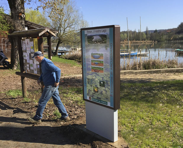 Installazione presso il lago